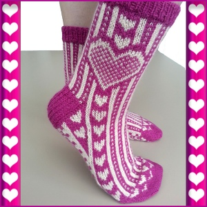 Carved heart socks